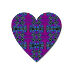 Purple Seamless Pattern Digital Computer Graphic Fractal Wallpaper Heart Magnet by Simbadda