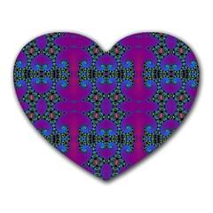 Purple Seamless Pattern Digital Computer Graphic Fractal Wallpaper Heart Mousepads by Simbadda