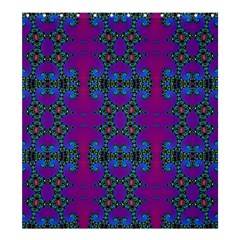 Purple Seamless Pattern Digital Computer Graphic Fractal Wallpaper Shower Curtain 66  X 72  (large)  by Simbadda