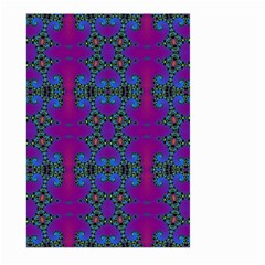 Purple Seamless Pattern Digital Computer Graphic Fractal Wallpaper Large Garden Flag (two Sides) by Simbadda