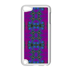 Purple Seamless Pattern Digital Computer Graphic Fractal Wallpaper Apple Ipod Touch 5 Case (white) by Simbadda