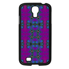 Purple Seamless Pattern Digital Computer Graphic Fractal Wallpaper Samsung Galaxy S4 I9500/ I9505 Case (black) by Simbadda