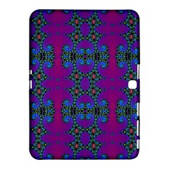 Purple Seamless Pattern Digital Computer Graphic Fractal Wallpaper Samsung Galaxy Tab 4 (10 1 ) Hardshell Case  by Simbadda