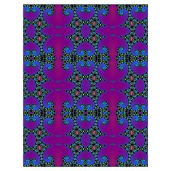 Purple Seamless Pattern Digital Computer Graphic Fractal Wallpaper Drawstring Bag (large) by Simbadda