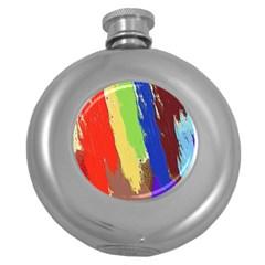 Hintergrund Tapete  Texture Round Hip Flask (5 Oz) by Simbadda