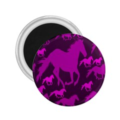 Pink Horses Horse Animals Pattern Colorful Colors 2 25  Magnets by Simbadda