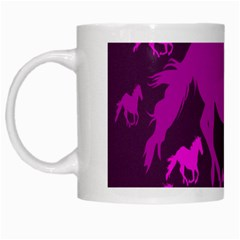 Pink Horses Horse Animals Pattern Colorful Colors White Mugs by Simbadda