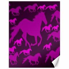 Pink Horses Horse Animals Pattern Colorful Colors Canvas 12  X 16   by Simbadda