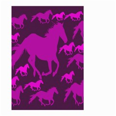 Pink Horses Horse Animals Pattern Colorful Colors Small Garden Flag (two Sides) by Simbadda