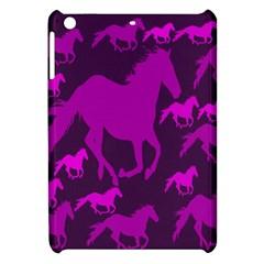 Pink Horses Horse Animals Pattern Colorful Colors Apple Ipad Mini Hardshell Case by Simbadda