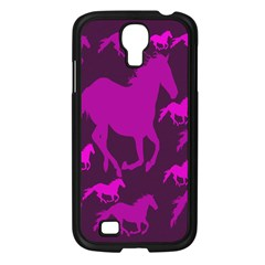 Pink Horses Horse Animals Pattern Colorful Colors Samsung Galaxy S4 I9500/ I9505 Case (black) by Simbadda