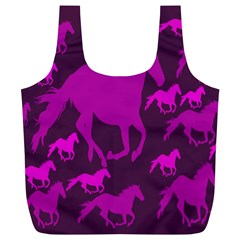 Pink Horses Horse Animals Pattern Colorful Colors Full Print Recycle Bags (l)  by Simbadda