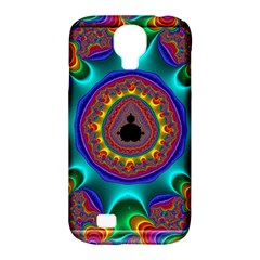 3d Glass Frame With Kaleidoscopic Color Fractal Imag Samsung Galaxy S4 Classic Hardshell Case (pc+silicone) by Simbadda