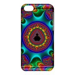 3d Glass Frame With Kaleidoscopic Color Fractal Imag Apple Iphone 5c Hardshell Case by Simbadda