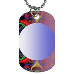 Texture Circle Fractal Frame Dog Tag (two Sides) by Simbadda