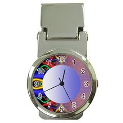 Texture Circle Fractal Frame Money Clip Watches by Simbadda