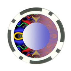Texture Circle Fractal Frame Poker Chip Card Guard