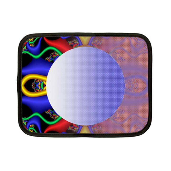 Texture Circle Fractal Frame Netbook Case (Small)