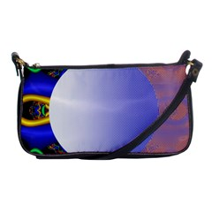 Texture Circle Fractal Frame Shoulder Clutch Bags by Simbadda
