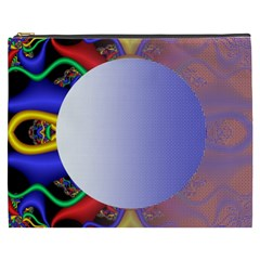 Texture Circle Fractal Frame Cosmetic Bag (xxxl)  by Simbadda