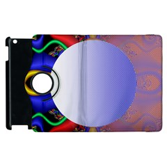Texture Circle Fractal Frame Apple Ipad 2 Flip 360 Case by Simbadda