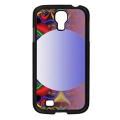 Texture Circle Fractal Frame Samsung Galaxy S4 I9500/ I9505 Case (black) by Simbadda