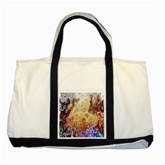 Space Abstraction Background Digital Computer Graphic Two Tone Tote Bag by Simbadda