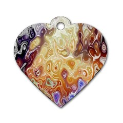 Space Abstraction Background Digital Computer Graphic Dog Tag Heart (one Side) by Simbadda