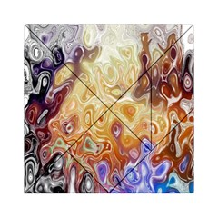 Space Abstraction Background Digital Computer Graphic Acrylic Tangram Puzzle (6  x 6 ) by Simbadda