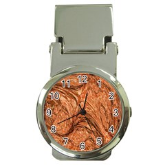 3d Glass Frame With Fractal Background Money Clip Watches by Simbadda