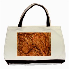 3d Glass Frame With Fractal Background Basic Tote Bag (two Sides) by Simbadda