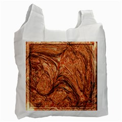 3d Glass Frame With Fractal Background Recycle Bag (two Side)  by Simbadda