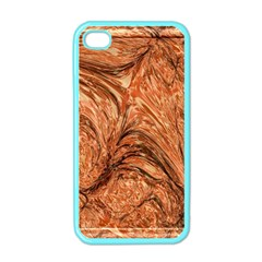 3d Glass Frame With Fractal Background Apple Iphone 4 Case (color) by Simbadda