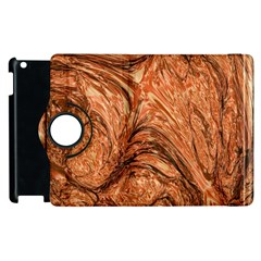 3d Glass Frame With Fractal Background Apple Ipad 2 Flip 360 Case by Simbadda