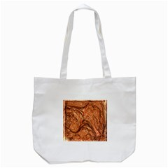 3d Glass Frame With Fractal Background Tote Bag (white) by Simbadda