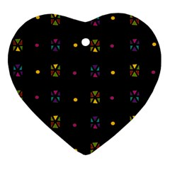 Abstract A Colorful Modern Illustration Black Background Ornament (heart) by Simbadda