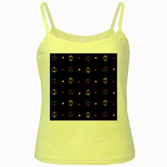 Abstract A Colorful Modern Illustration Black Background Yellow Spaghetti Tank