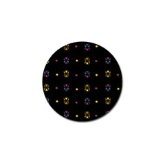 Abstract A Colorful Modern Illustration Black Background Golf Ball Marker (4 Pack) by Simbadda