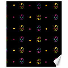 Abstract A Colorful Modern Illustration Black Background Canvas 8  X 10  by Simbadda