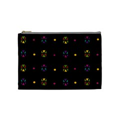 Abstract A Colorful Modern Illustration Black Background Cosmetic Bag (medium)  by Simbadda