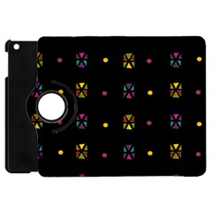Abstract A Colorful Modern Illustration Black Background Apple Ipad Mini Flip 360 Case by Simbadda