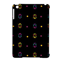 Abstract A Colorful Modern Illustration Black Background Apple Ipad Mini Hardshell Case (compatible With Smart Cover) by Simbadda