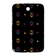 Abstract A Colorful Modern Illustration Black Background Samsung Galaxy Note 8 0 N5100 Hardshell Case  by Simbadda
