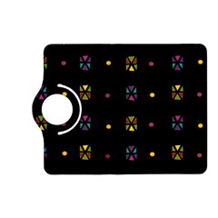Abstract A Colorful Modern Illustration Black Background Kindle Fire Hd (2013) Flip 360 Case by Simbadda