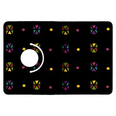Abstract A Colorful Modern Illustration Black Background Kindle Fire Hdx Flip 360 Case by Simbadda