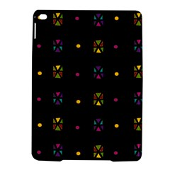 Abstract A Colorful Modern Illustration Black Background Ipad Air 2 Hardshell Cases by Simbadda