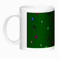 Green Abstract A Colorful Modern Illustration Night Luminous Mugs by Simbadda