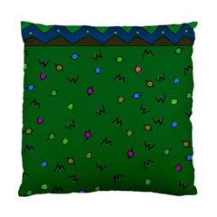 Green Abstract A Colorful Modern Illustration Standard Cushion Case (two Sides) by Simbadda
