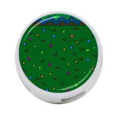 Green Abstract A Colorful Modern Illustration 4 Port Usb Hub (two Sides)  by Simbadda
