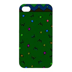 Green Abstract A Colorful Modern Illustration Apple Iphone 4/4s Hardshell Case by Simbadda